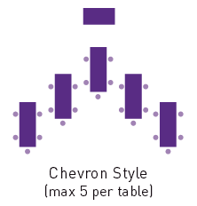Chevron style room layout