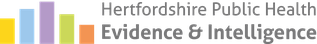 Hertfordshire Public Health Evidence and Intelligence logo