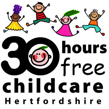 Hertfordshire S 30 Hours Free Childcare Logo