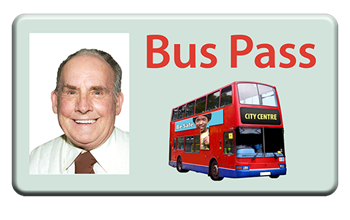 Bus pass easy read image
