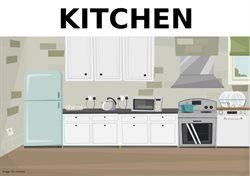 Picture if a kitchen with overn and cupboards