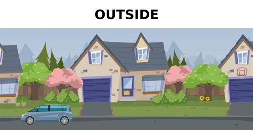 Picture of outside a house - jump to the outside section of the house
