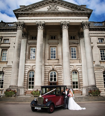 Wedding car and building