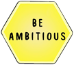 Be ambitious, font and transparent