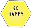 Be happy, font and transparent
