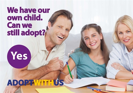 Male and two females adoption postcard (448x313)
