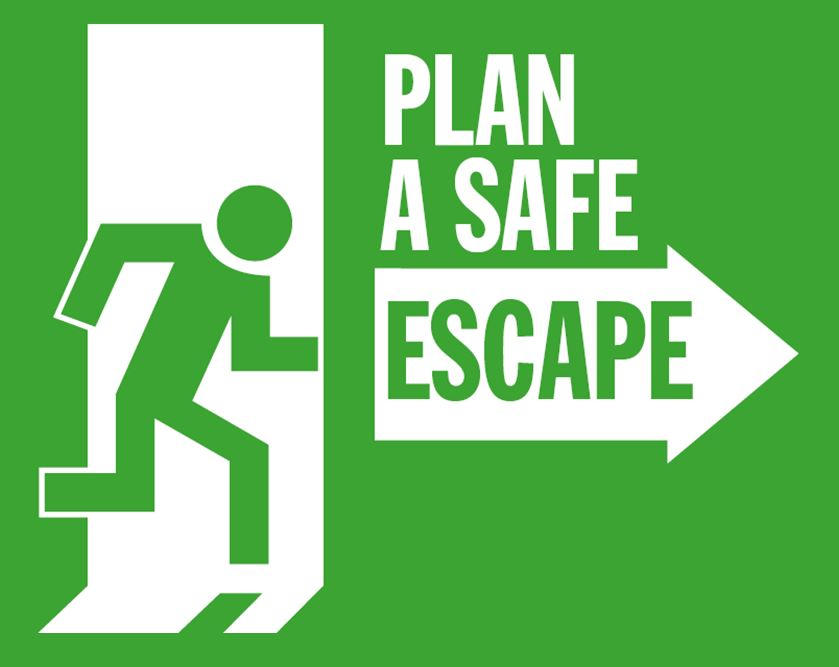 Escape route graphic