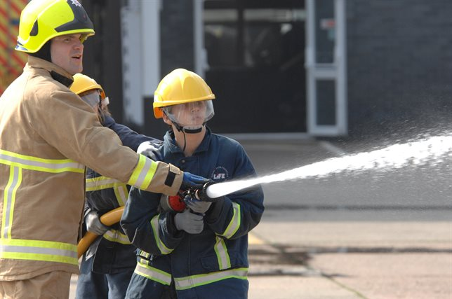 Young person with fire service 644x427