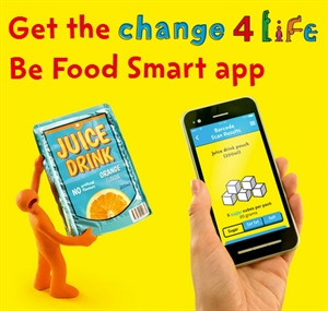 Get the Change 4 Life Be Food Smart app.