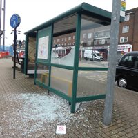 Bus Shelter Damage