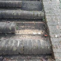 Steps damaged