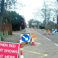 Temporary Traffic Lights -Out