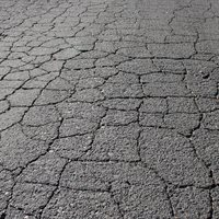 Cracked (or 'crazed') road surface