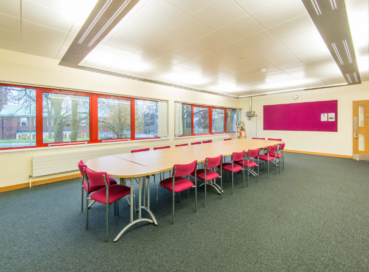 A meeting room in Welwyn Garden City library.