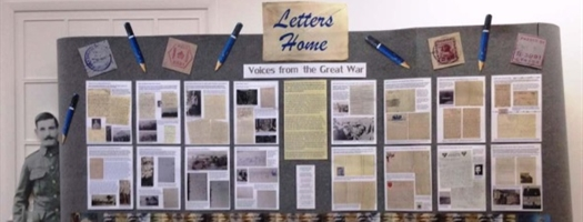 Display - Letters home World War 1
