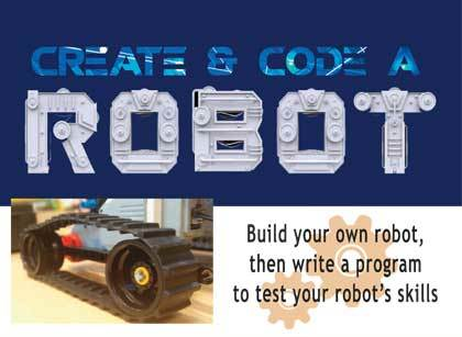 create and code a robot