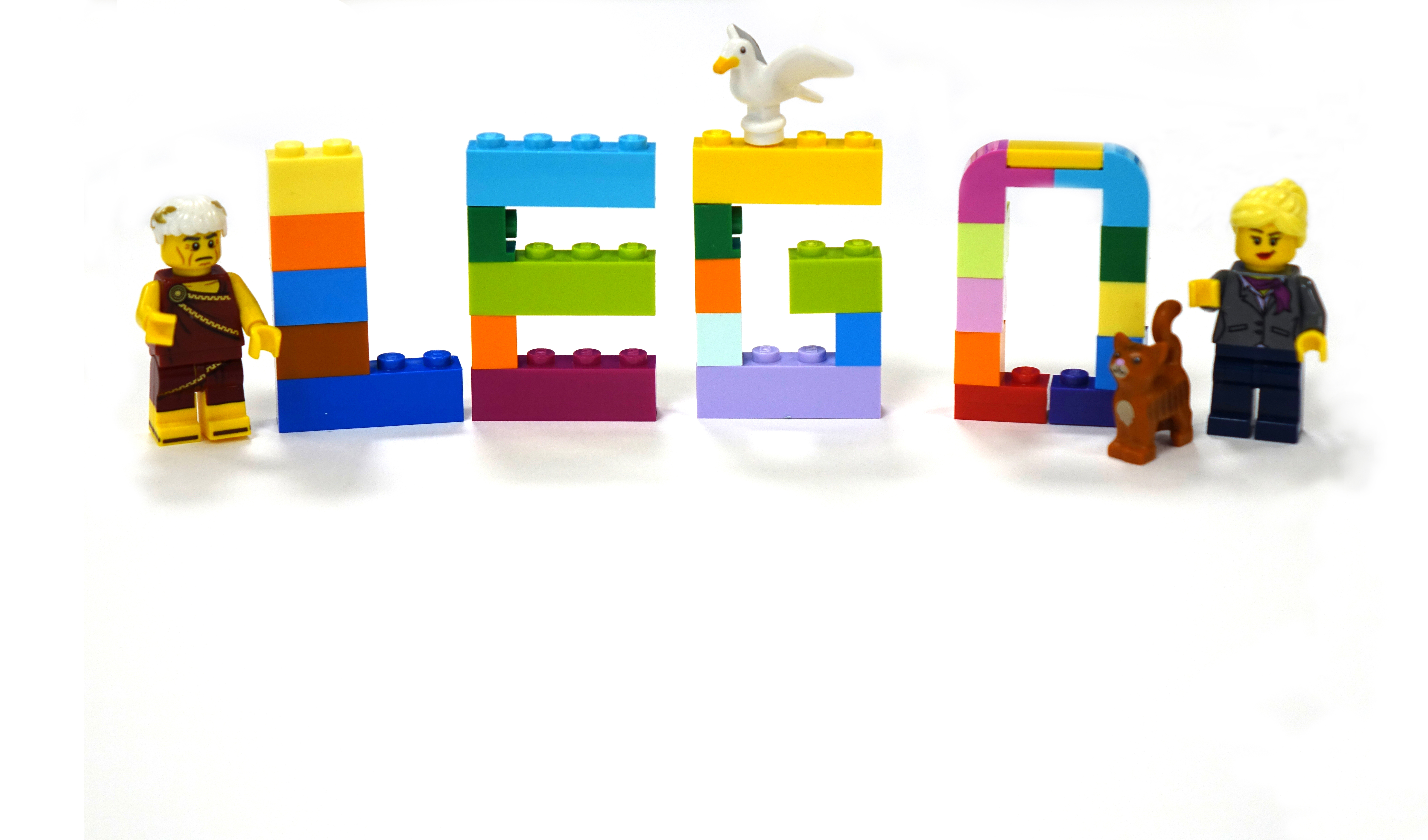 Lego lettering with minifigures