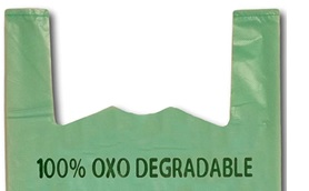 Oxo-degradable logo - put these plastics in your general waste bin