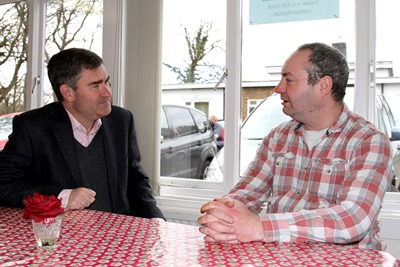 David Gauke MP with BBO participant Jason image