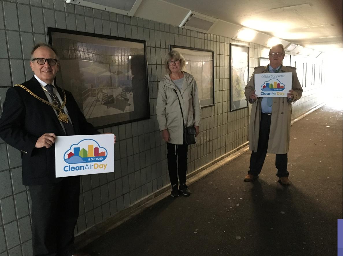 London Road Subway - Cllr Deering, Angela Roberts and Cllr Tim Hutchings