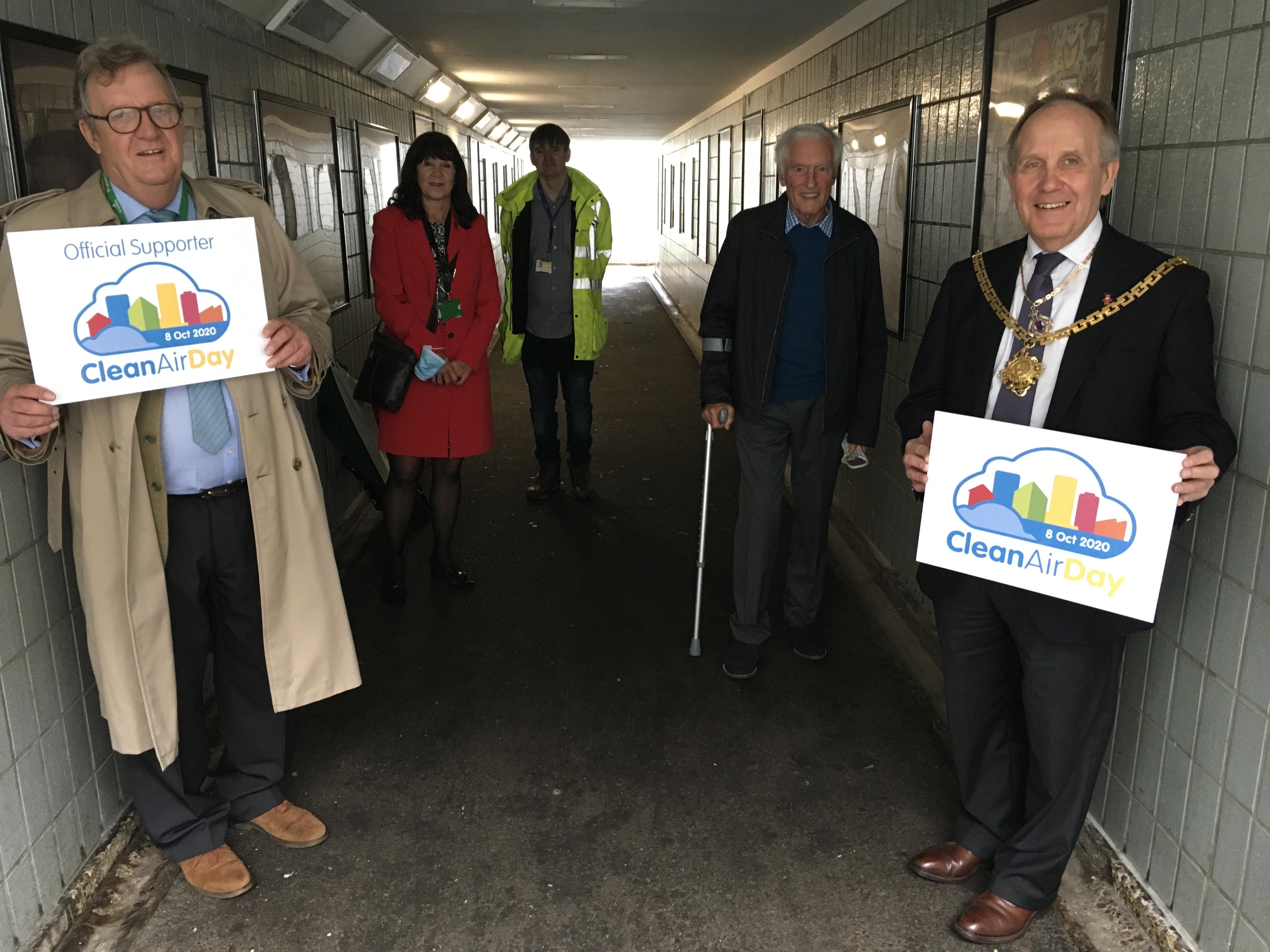 London Road Subway - Geoff Bennett Cllr Hutchings Cllr Deering