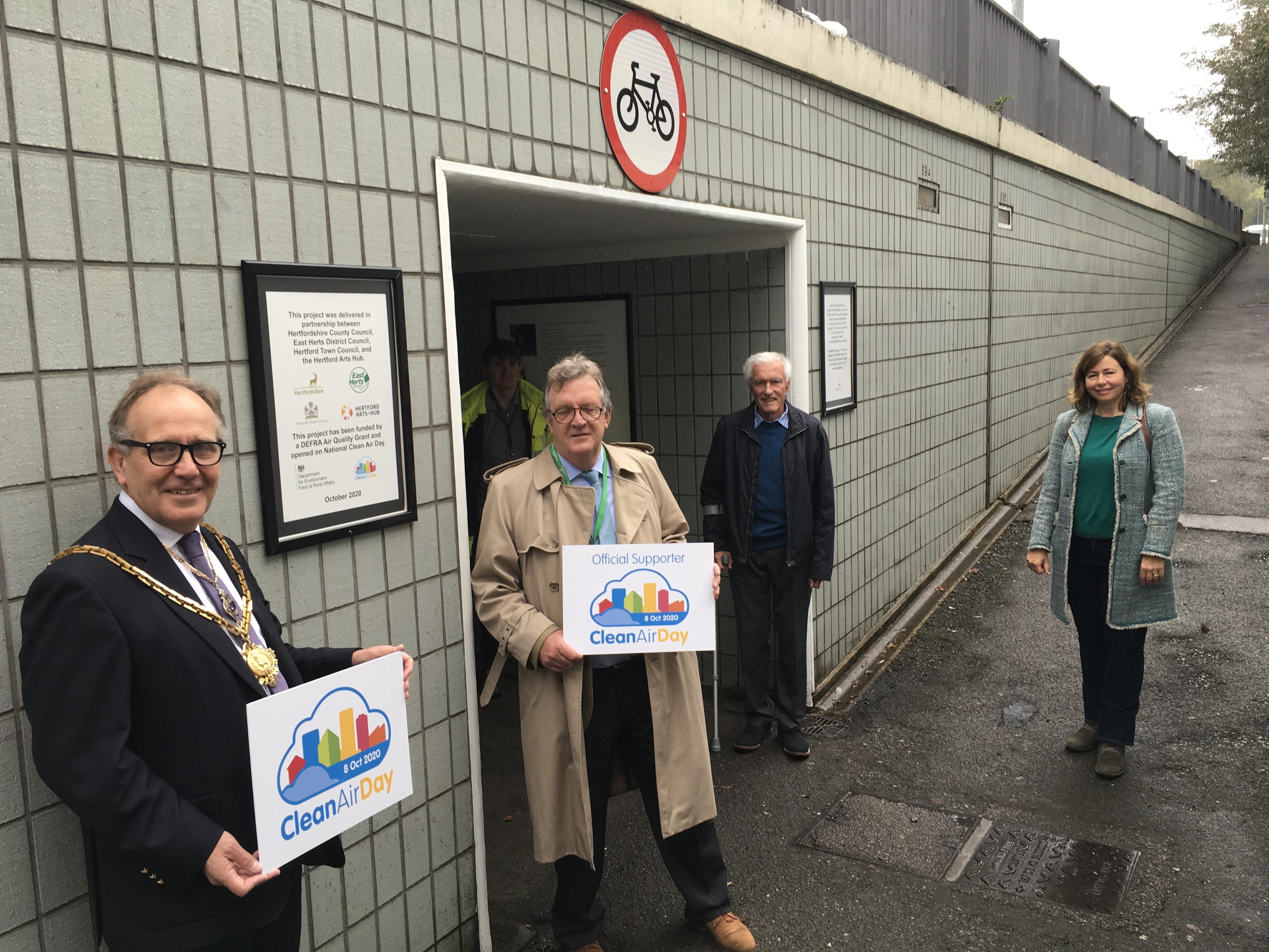 London Road subway refurbishment for Clean Air Day 2020