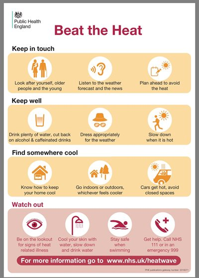 Public Health England poster on sun safety