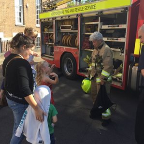 firefighters with kids