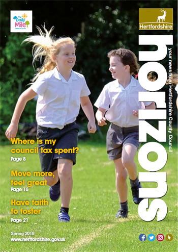 Front cover of Horizons magazine Spring 2018