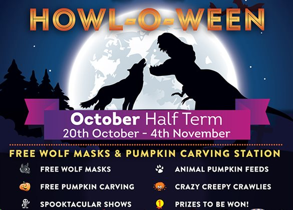 Paradise Wildife Park howl-o-ween poster