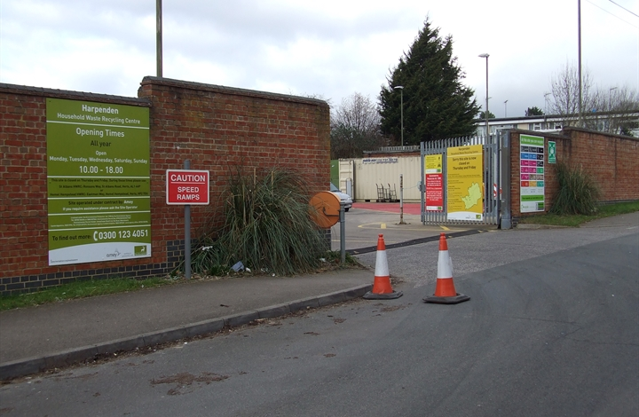 Harpenden household waste recycling centre