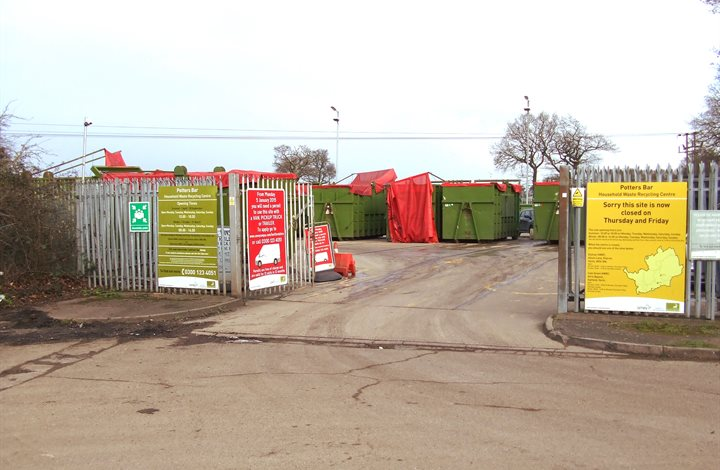 Potters Bar household waste recycling centre