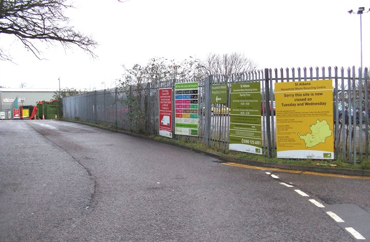 St Albans household waste recycling centre