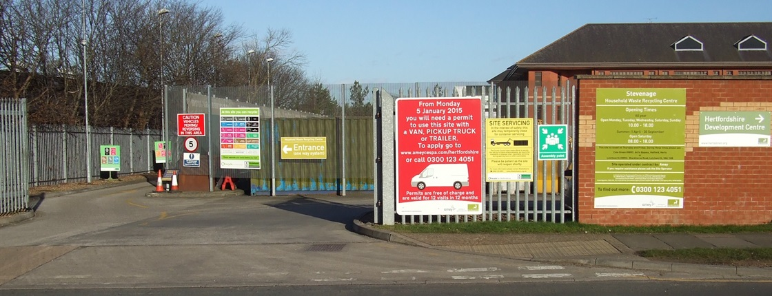 Stevenage household waste recycling centre