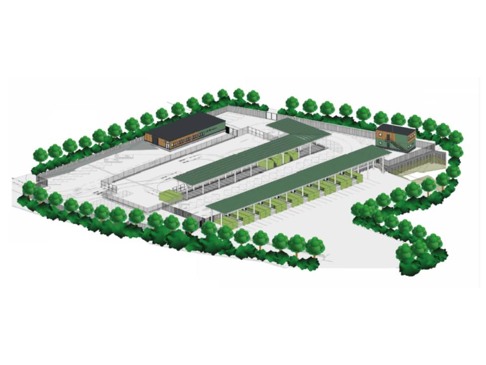 Planned layout for Ware recycling centre