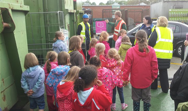 Recycling centre school visit