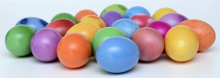 coloured eggs