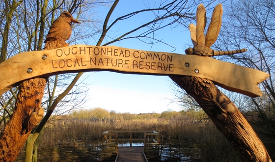 Oughtonhead Common entrance sign