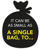 It can be as small as a single bag