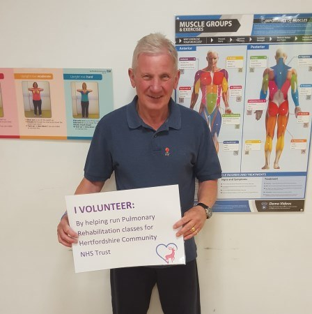 Roger, volunteering to help people with lung diseases