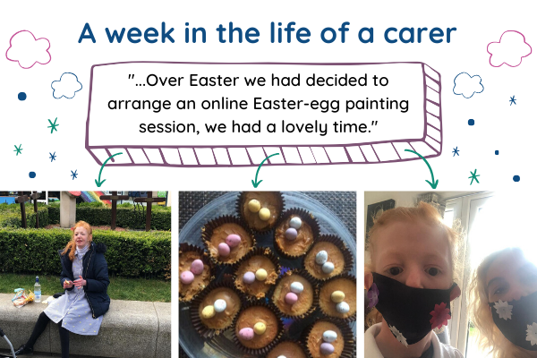 an image displaying photographs of a week in the life of a carer