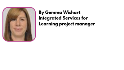 Gema Wishart, Integrated Services for Learning project manager